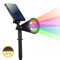 ZEEFO 200 Lumens LED Solar Lights, Waterproof Solar Powered Spotlight